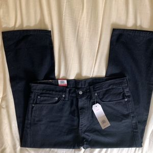 Levis 505 Mens Jeans-Regular Black 36X29